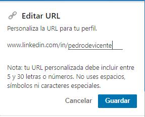 URL del perfil Linkedin 2