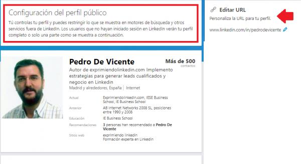 URL del perfil Linkedin 5
