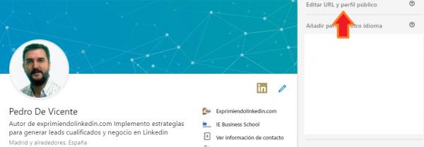 url del perfil Linkedin