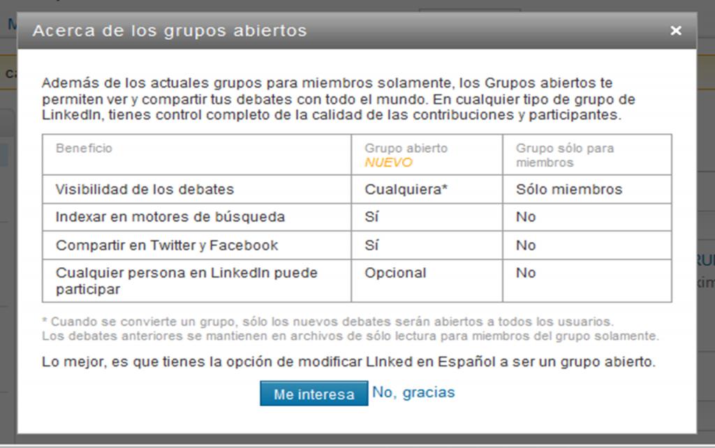 Grupos Abiertos vs. Cerrados