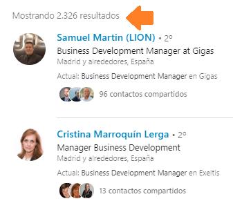 Análisis de red vía búsqueda avanzada en Linkedin 4