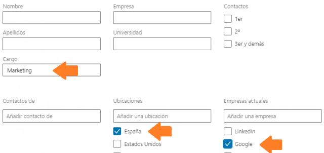 Análisis de red vía búsqueda avanzada en Linkedin 5