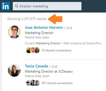 La búsqueda avanzada en Linkedin 5