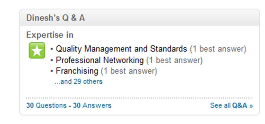Opción Pregunta de Linkedin