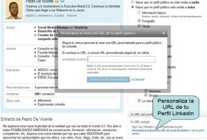 Personaliza la URL de tu Perfil Linkedin