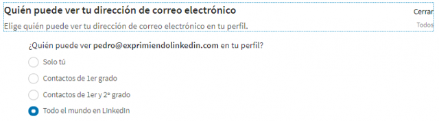 Privacidad correo electrónico