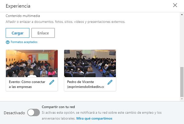 Cómo compartir contenidos en el perfil Linkedin 2
