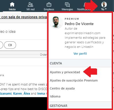 Desbloquear contactos Linkedin