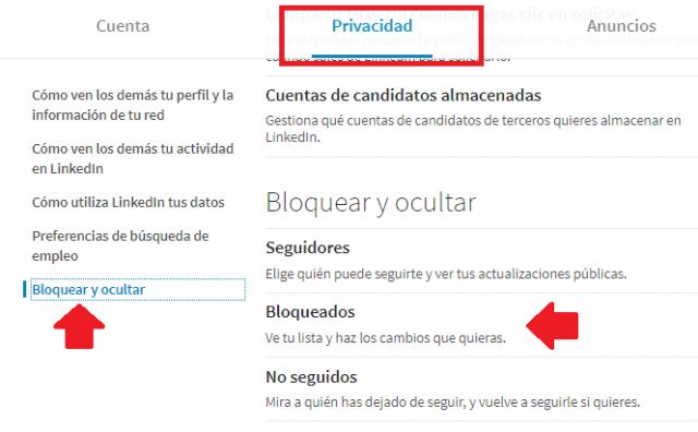 Desbloquear contactos Linkedin2