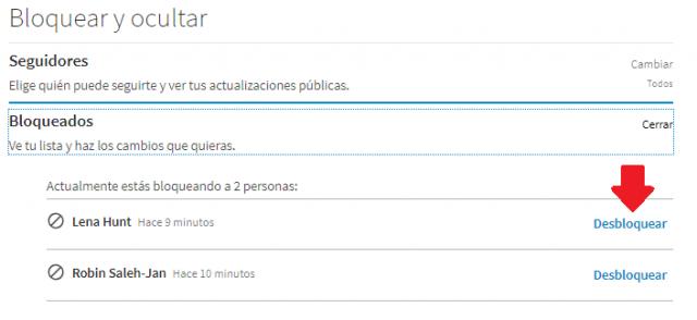 Desbloquear contactos Linkedin3