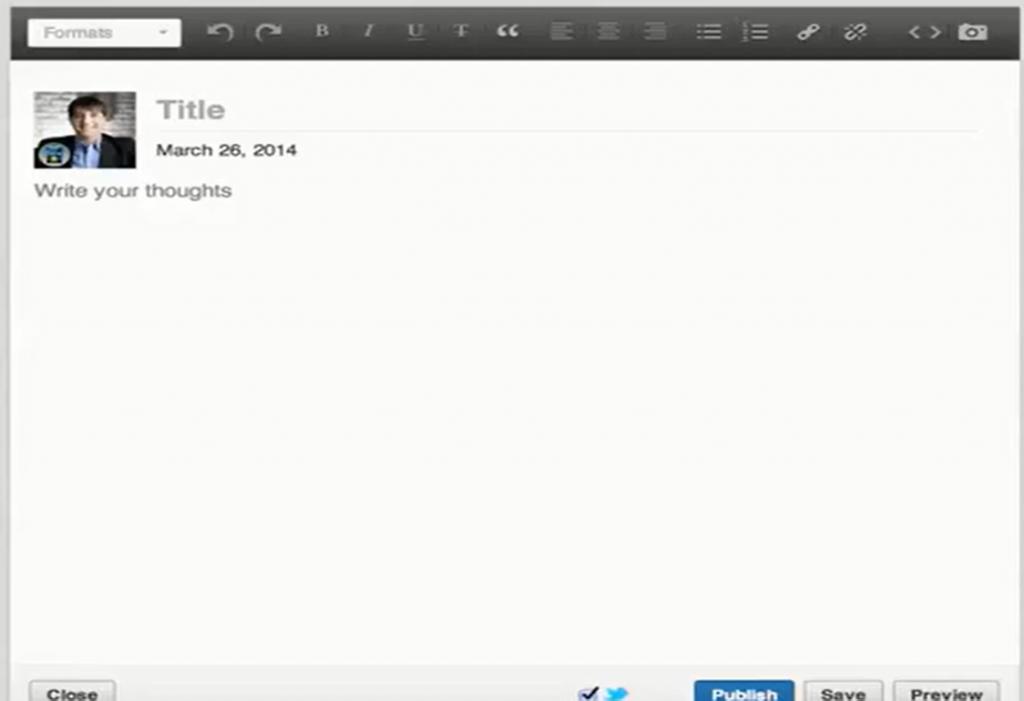 Plataforma de blogging en Linkedin