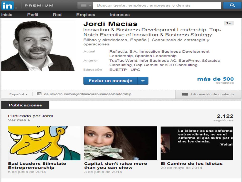Plataforma blogging Linkedin 3
