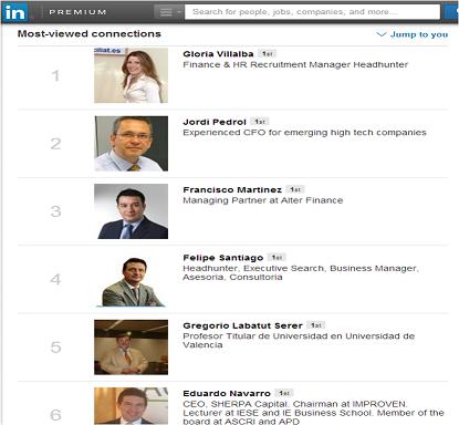 Ranking de influencers en Linkedin