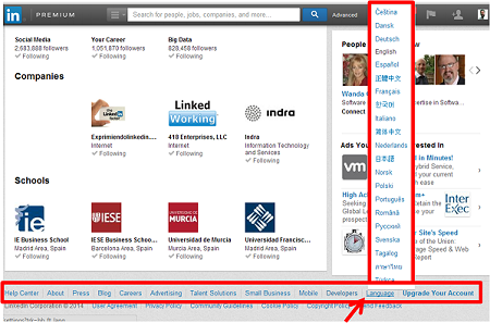 Cómo cambiar el idioma de la Interfaz Linkedin