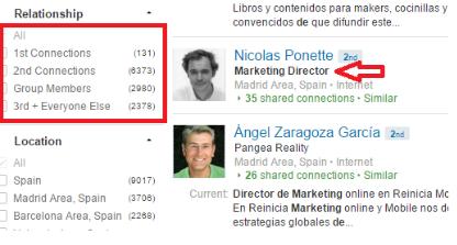La red extendida en LinkedIn