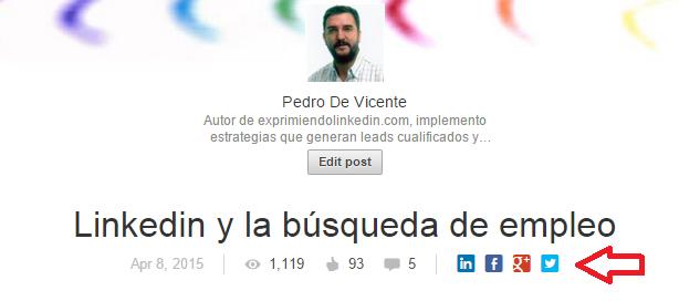 Interaación y difusión en Linkedin