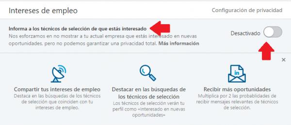 Linkedin indica a reclutadores que estás abierto a oportunidades profesionales 4
