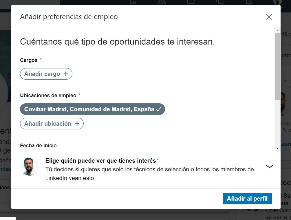 Linkedin reclutadores oportunidades profesionales