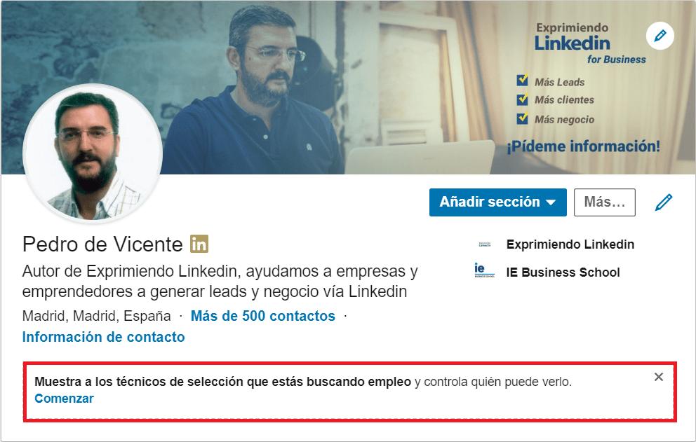 Linkedin reclutadores oportunidades profesionales 1