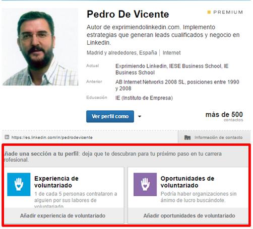 Cambios en el perfil Linkedin 6