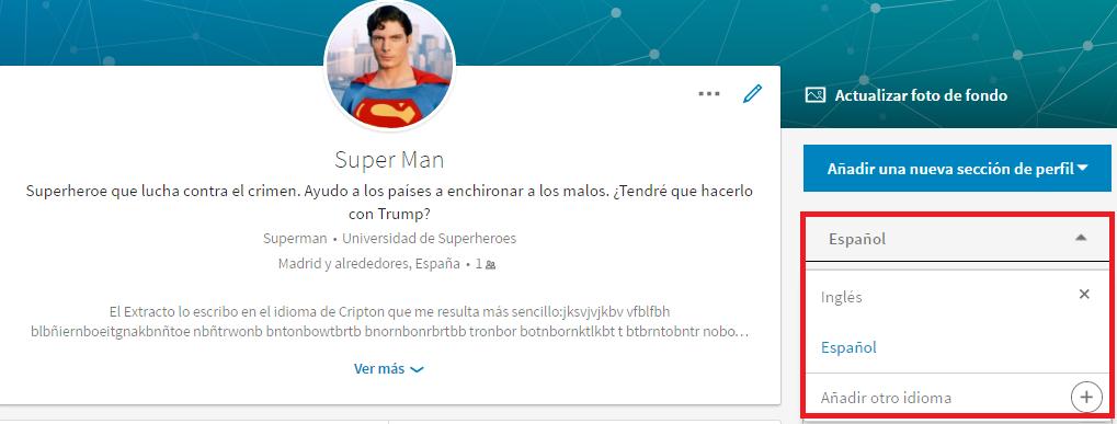crear perfil otro idioma perfil linkedin nuevo