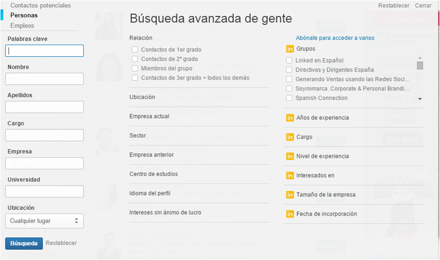 Buscador Linkedin antes 2017