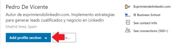 Mejoras en el perfil Linkedin añade secciones