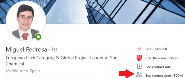 Mejoras en el perfil Linkedin ver contactos