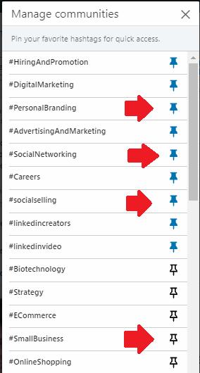 los hashtags en Linkedin 8