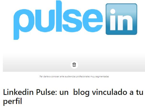 Linkedin Pulse el título