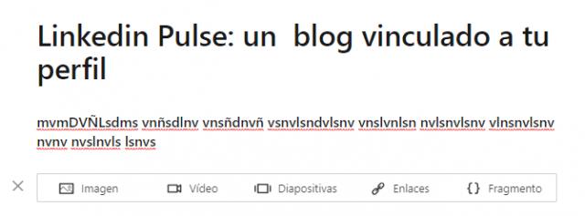 Linkedin Pulse el texto