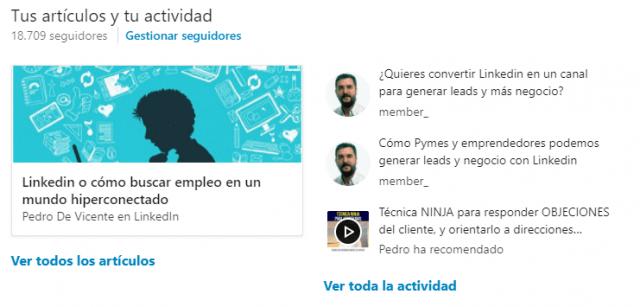 Linkedin pulse y el perfil Linkedin