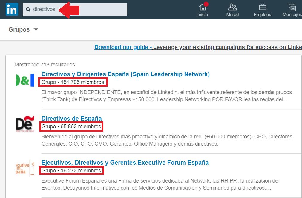 Perfil Linkedin - Grupos profesionales
