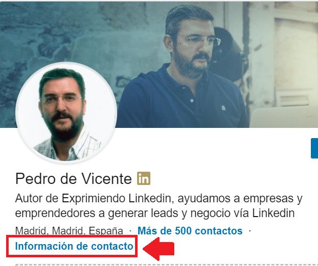 Perfil Linkedin - Info de contacto