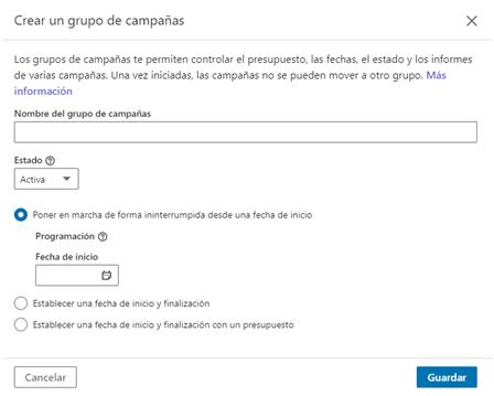 Linkedin ads - crear campañas