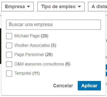 Linkedin empleos Empresa