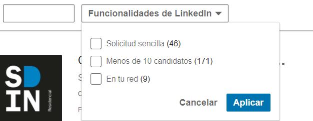 Linkedin empleos Funcionalidades de Linkedin