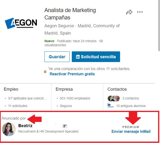 Linkedin empleos reclutador que recluta