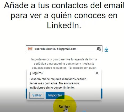 Crear cuenta en Linkedin - añadir contactos 2