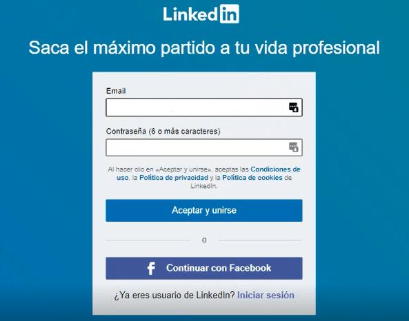 Crear cuenta en Linkedin - claves de acceso
