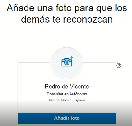 Crear cuenta en Linkedin - foto del perfil 2