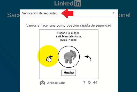 Crear cuenta en Linkedin - verificación
