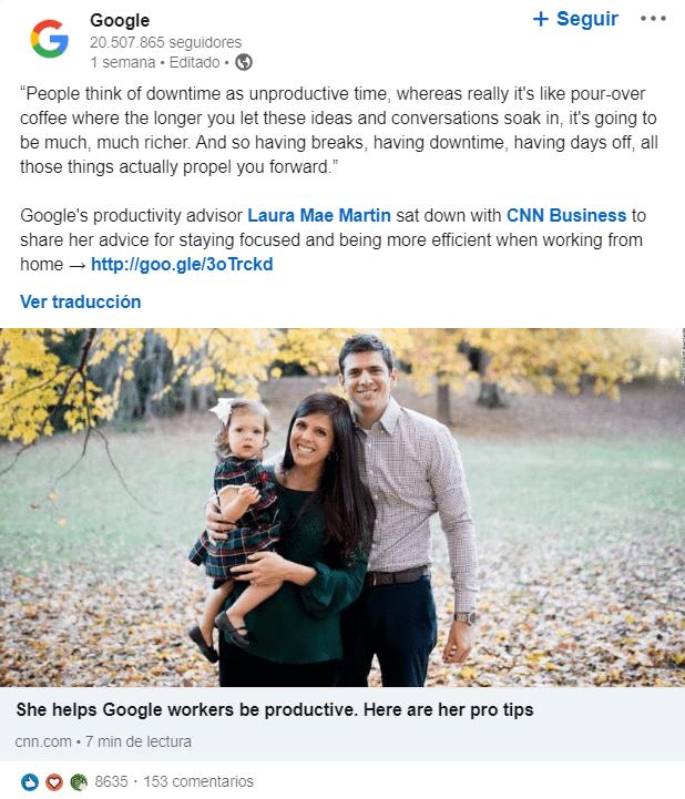 publicaciones corporativas linkedin para empresas