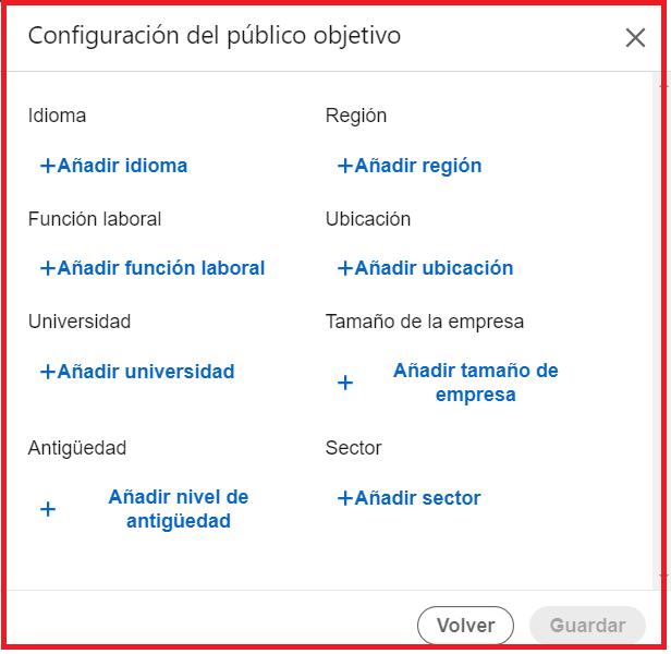 segmentación linkedin para empresas