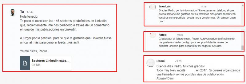 contactos linkedin para empresas