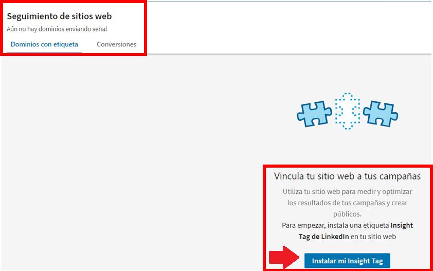 Linkedin Insight Tag - cómo instalar Linkedin Insight Tag 2