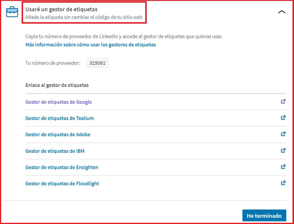 Linkedin Insight Tag - cómo instalar Linkedin Insight Tag 5