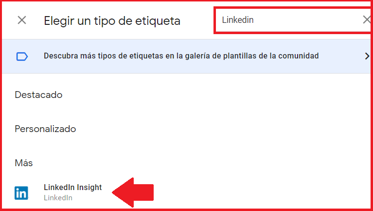 Linkedin Insight Tag con tag manager 3