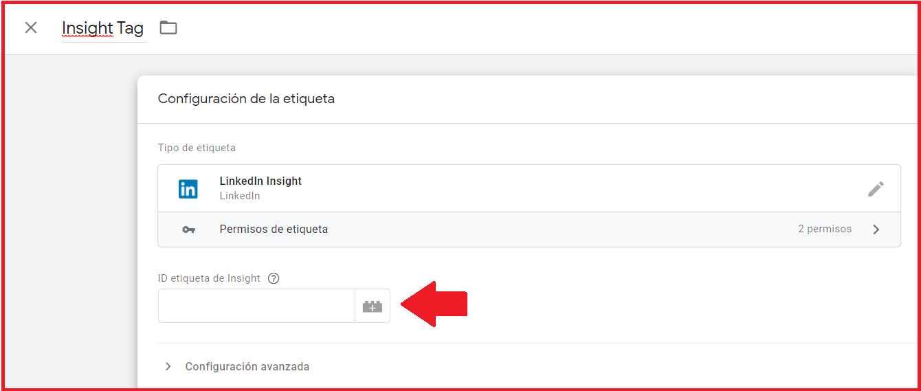 Linkedin Insight Tag con tag manager 4