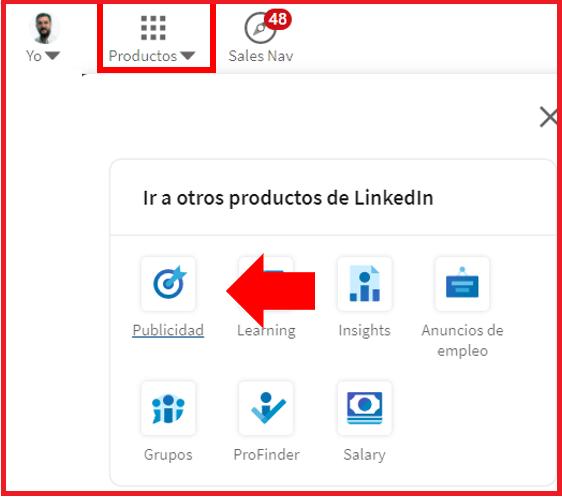 Linkedin Insight Tag - crear cuenta publicitaria